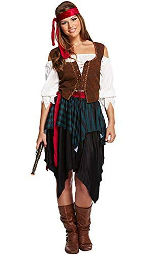 Women's Pirate Buccaneer Costume. Sizes 12-14
