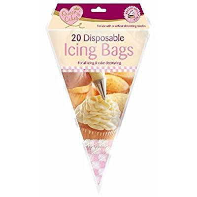 Queen Of Cakes - 20 Disposable Icing Bags - For All Icing & Cake Decorating by Queen Of Cakes