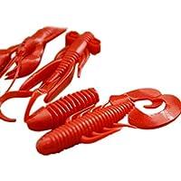 chenshaorme Los cebos de Pescado camarón Pescado Suave 4pcs Bionic Cebos Señuelos de Silicona Maggot 4 Colores