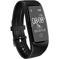 YAMAY® HR3 Fitness Armband Uhr mit Pulsmesser,Wasserdicht IP67 Fitness Tracker Aktivitätstracker Bluetooth Smart-Armband Schrittzähler für iOS und Android Handys