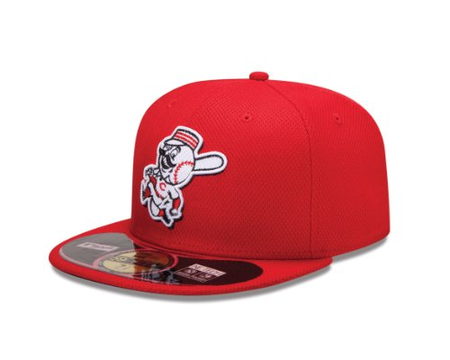 New Era MLB Home Diamond Era 59Fifty Fitted Cap, Herren, 10757146, Cincinnati Reds, 7 3/8