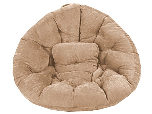 Meerweh Magic Seat Relaxsessel XXL circa 215 cm Velour, beige, 215 x 105 x 12 cm, 74063