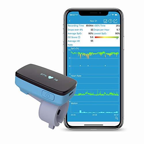 Monitor de oxígeno del sueño con alerta de vibración para el seguimiento de la apnea del sueño Nivel...