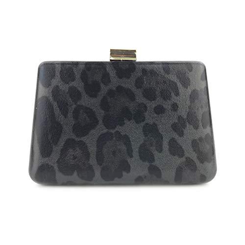Strass Leopard-druck-handtasche (LUSESKY Leopard-Druck-Abendkleid-Kleidparty Nehmen Einseitige Bankettbeutel-Abendtasche Mit)