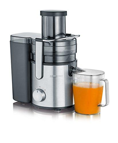SEVIR ES 3570 Licuadora con recipiente de zumo, 800 W, 1,1 litros, color negro y acero inoxidable