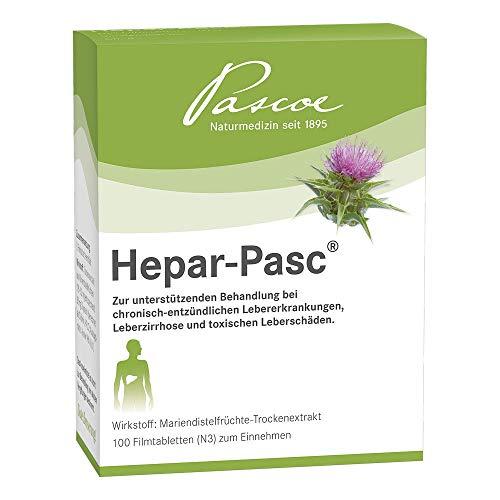 Hepar-Pasc | natürlicher Leberschutz aus Mariendistel | 100 Tabletten