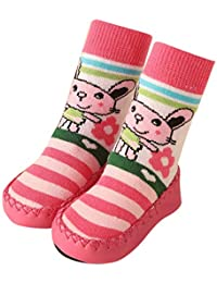 166d968ae Mococity Hotsellhome New Toddler Infant Baby Unisex Cartoon Moccasins Non  Slip Indoor Slippers Socks Anti-