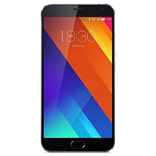 Meizu MX532GBG 14 cm (5,5 Zoll) Smartphone (32 GB, Helio X10 Turbo Prozessor Arm Cortex A53, 20,7MP Kamera) Grau
