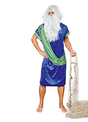 Poseidon/Wasssermann Kostüm mit Schärpe - König Triton Kostüm Kinder