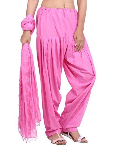 Jaipur Kurti Pure Cotton Baby Pink Patiala Salwar and Dupatta Set