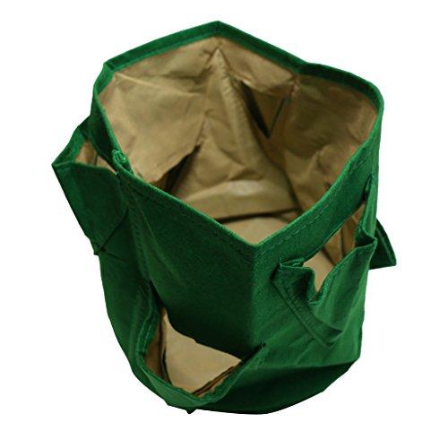 Blesiya Pflanz Taschen Sack Pflanzsack Pflanztasche Tasche Indoor / Outdoor-Kräutertopf - 30x28cm