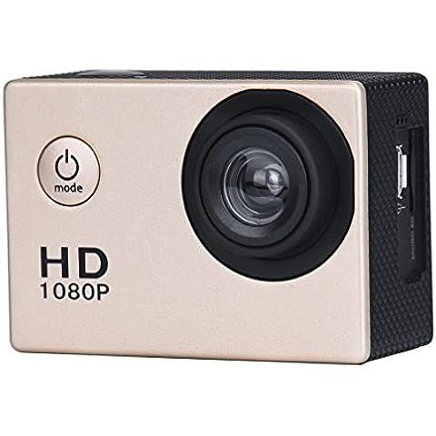 FEITONG Mini DV HD 1080P Deportes registrador del coche Acción impermeable videocámara de la cámara (Oro)