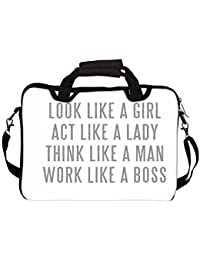 """Snoogg Lady Mantra 12"""" 12.5"""" 12.6"""" Inch Laptop Notebook SlipCase With Shoulder Strap Handle Sleeve Soft Case With..."""
