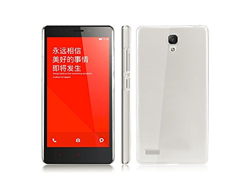 Crystal Clear Transparent Hard Back Case Cover for Xiaomi Redmi Note