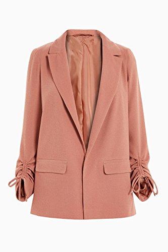 next Damen Jacke mit Gerüschten Ärmeln Rost EU 46 (UK 18) (Revere Mantel)