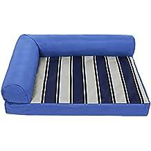 Songmics Cómodo Casa para mascotas, Cama para perros Perro De Perrito Sofa 68 x 53 x 18 cm Azul PGW68B