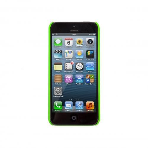 Aiino Rubber Schutzhülle Handyhülle Schale Spezialedition für Smartphone Apple iPhone 5/5S - Lemon Zest Grün