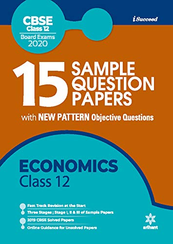 15 Sample Question Papers Economics Class 12th CBSE 2019-2019-2020