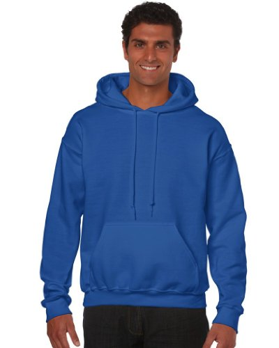 Gildan Heavy Blend Erwachsenen Kapuzen-Sweatshirt 18500 blue royal, S