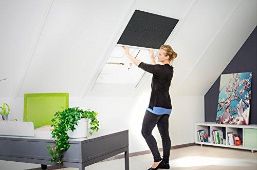 110x160 cm hecht international 101160101-VH Dachfensterplissee 110 x 160 cm in wei/ß