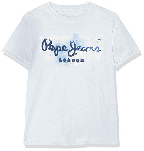 Pepe Jeans Jungen T-Shirt Golders JK, Blau (Pacificblue), 16 Jahre (Herstellergröße: 16) (Jeans-jungen-shirt)