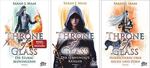 Band 5-7 der Throne of Glass Reihe von Sarah J. Maas 5. Die Sturmbezwingerin & 6. Der verwundete Krieger & 7. Herrscherin über Asche und Zorn