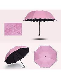 Symboat Paraguas plegable Bloom Fleur, parasol cortavientos para deportes al aire libre, parasol con…