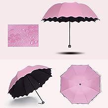 Symboat Paraguas plegable Bloom Fleur, parasol cortavientos para deportes al aire libre, parasol con