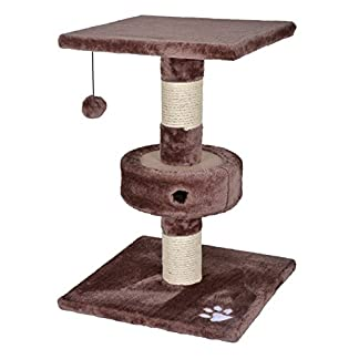 HIGHLAND PET QUALITY PET PRODUCTS 57cm Cat Kitten Activity Centre Scratching Scratcher Pole Post Tree Climbing Toy 418vkIj2xBL