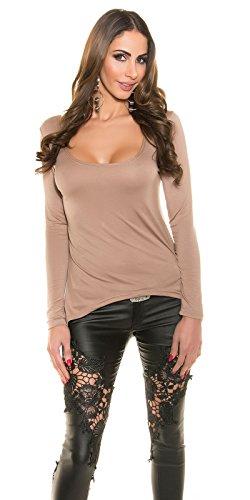 In-Stylefashion - Sweat-shirt - Femme marron marron foncé L marron foncé
