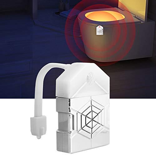 Luce da notte per WC, Sensore di movimento a 2 pacchi Luce di toilette a LED Luce del sedile del WC Divertente compleanno Gag Idea regalo di Pasqua per uomini, donne, papà, mamma, marito, Festa del pa