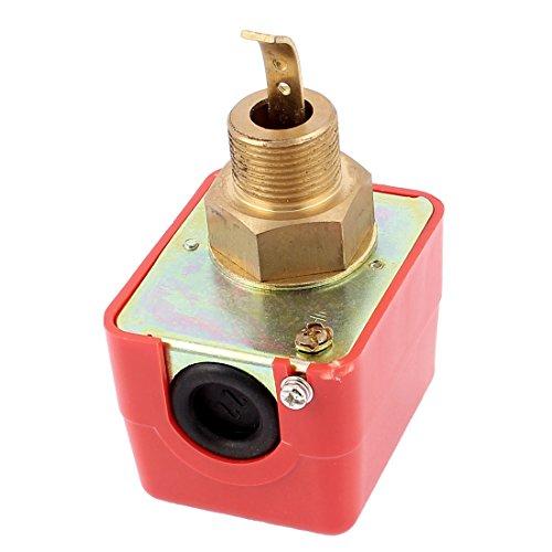 sourcingmap® HFS-20 3/4BSP Zieltyp Kreislauf Wasserfluss Sensor Schalter Metall rot golden