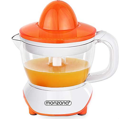 Monzana Entsafter Saftpresse Zitruspresse elektrische Presse Fruchtpresse Zitronenpresse 40W 700ml spülmaschinengeeignet für Orangen Zitronen Limetten Mandarinen Grapefruits*