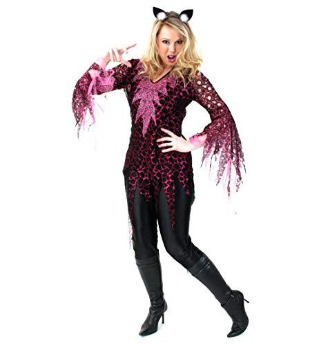 KarnevalsTeufel Damen-Kostüm Pink Cat (40)