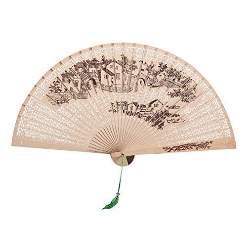 XIAOHAIZI Handfächer,Haus Muster Chinesische Traditionelle Hohle Fan Aus Holz Gemacht Hochzeitsgeschenk Leistung Fan Für Hauptwanddekoration