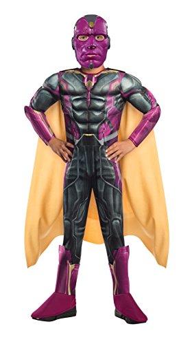 Marvel Vision Kostüm (Vision Deluxe The Avengers 2 Kinder Kostüm,)
