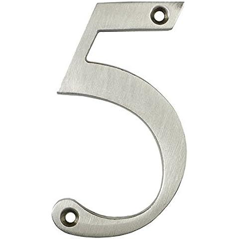 3inch sottile costiere Porta numero, colore: argento satinato porta numero 5–Non Pit o ruggine anche a la costa
