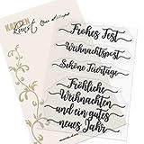 Clear Stamp-Set Stempel-Gummi Karten-Kunst - Kalligraphie zu Weihnachten