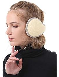 Strickwolle Pl/üsch Earmuffs f/ür Damen und Herren Queta Winter Ohrensch/ützer Winter Ohrenw/ärmer Innovativer Ear Cover H/ält die Ohren Warm im Winter Verstellbar Ohrensch/ützer