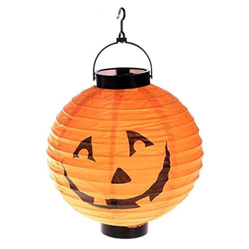 TTYAC 10piece / Lot geben Verschiffen Halloween-Laterne Geistfestivaldekorationen Jack-O-Laterne hängende Kürbispapierlaternen an Hand, Multi, 6inch - Teen Kostüm Party Stadt