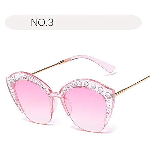 Yiph-Sunglass Sonnenbrillen Mode Damen-Sonnenbrillen Mode UV-Brillen bieten umfassenden Schutz für Outdoor-Aktivitäten Sonnenbrillen (Farbe : NO.3, Größe : Free Size)