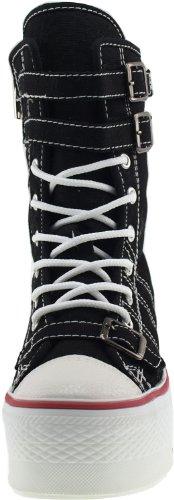 Maxstar  C50-3Belt, Chaussons montants femme Noir - noir