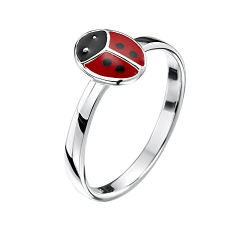 Jo for Girls Sterling Silver Ladybird Ring - Size H - JR56-H