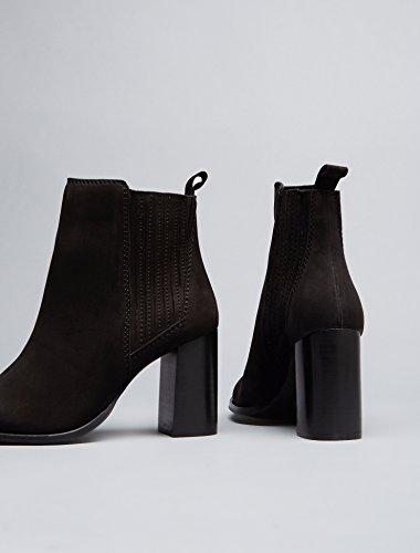 FIND Stivaletto Donna alla Caviglia Nero (Black)