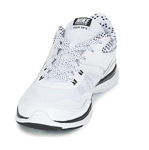 Nike - Flex Trainer 5 Print, Scarpe Da Ginnastica da donna Blanco (White / Black-Pure Platinum)