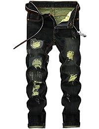 4c7f7697afd8e Saoye Fashion Hommes Destroy Jeans 2018 New Vintage Distressed Denim Denim  Pants Vêtements Jeans Droit Jeans