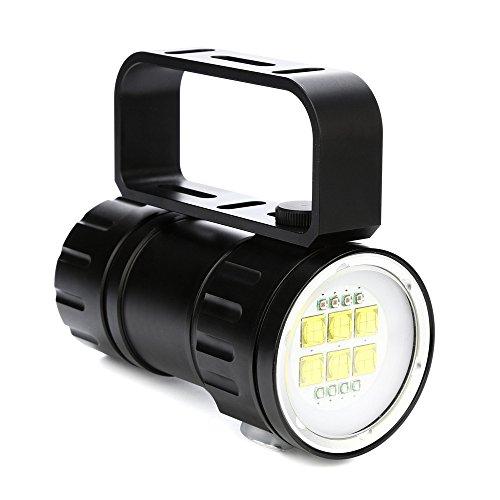 Unterwasser Taschenlampe ,COLORFUL_LED Tauchlampe ,Unterwasser 300-500m IPX8 LED Tauchen Taschenlampe (QH14)