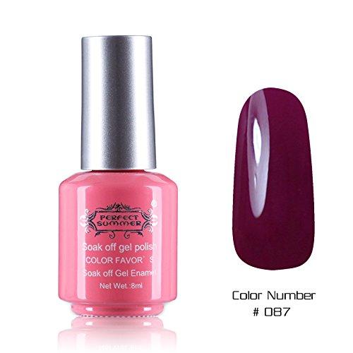 Perfect Summer 1PCS 8ml Vernis à Ongles Semi Permanent UV LED Soak Off Gel Polish Nail Art Manucure 8ml Couleur #87