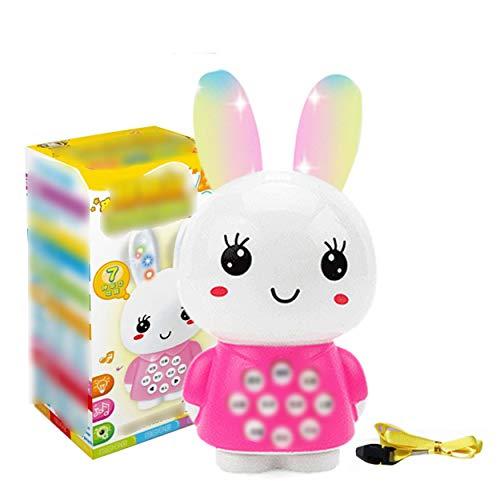 ClookYeed Früherziehung Maschine Spielzeug Cartoon Bunny Mini Geschichte Maschine Multifunktions Musik Alte Gedicht Baby Lernmaschine