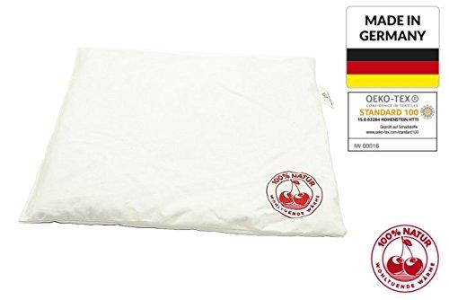 Kirschkernkissen 25x30cm Natur XXL,Körnerkissen, Wärmekissen Groß, NATUR Kissen XXL natürliche Kirschkerne, Made in GERMANY und Öko-Tex 100 Zertifikat